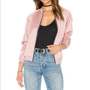 NWT Pink Blush Satin Bomber Arizona Jeans Jacket